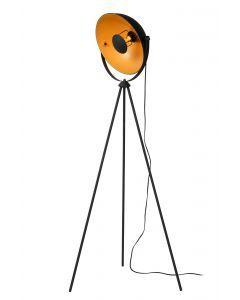 ALVARO Vloerlamp 1xE27 Zwart