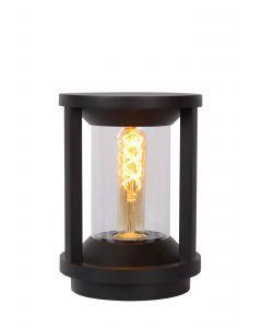 CADIX Sokkellamp Buiten Ø 16 cm 1xE27 IP65 Zwart