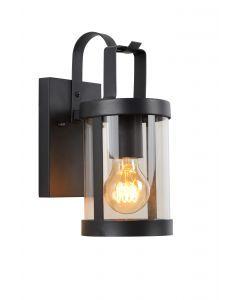 LINDELO Wandlamp Buiten 1xE27 IP23 Zwart