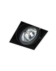 LED-inbouwarmatuur BR1339 Vierkant card. G53 excl. trafo Zwart